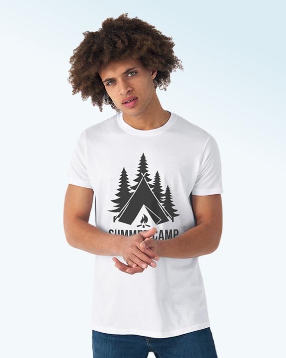 T-shirt adulte pour camp scout
