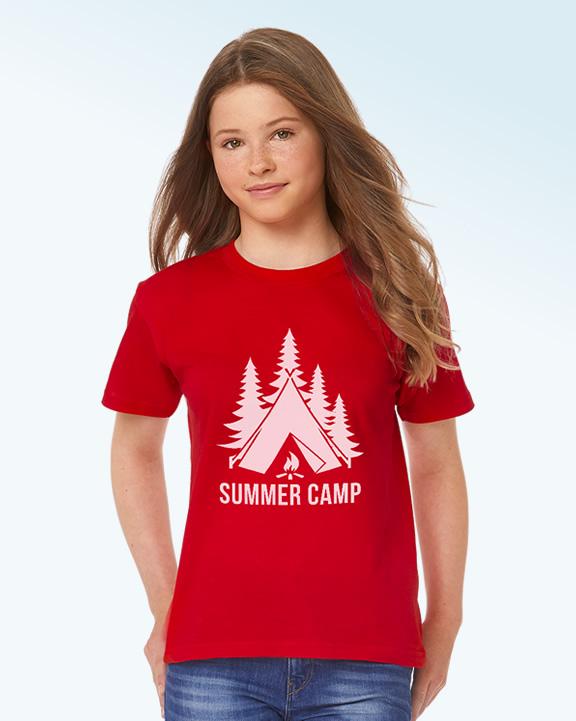 T-shirt enfant pour camp scout