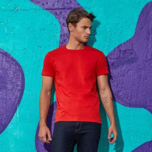 T-shirt épais rouge B&C #E190