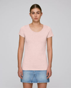 "T-shirt Stanley/Stella Loves couleur ""Cream Heather Pink"" pour le printemps-été 2019"
