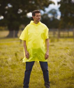 Poncho de festival jaune