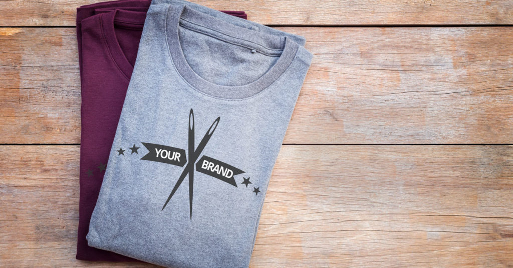 Impression de vêtements avec logo de marque