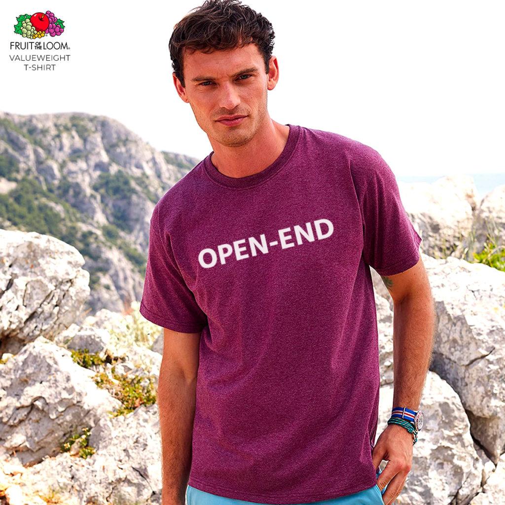 T-shirt personnalisé pas cher en coton open-end