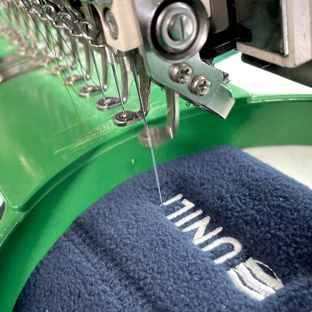 Personnalisation d'un vêtement par broderie